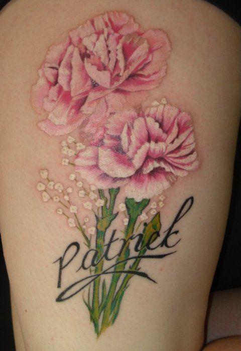 Carnation would be for Tel carnation flower tattoo images   ... in black carnation tattoo flower drawings tattoos carnation symbol