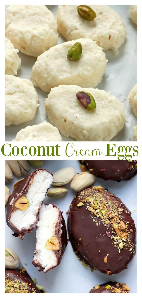 Chocolate Covered Coconut Cream Eggs - Baker by Nature