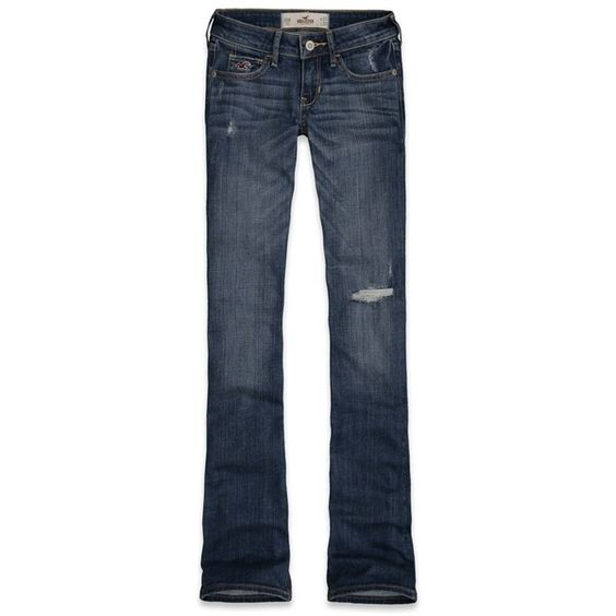 Hollister Co Hollister Boot Destroyed Jeans via Polyvore