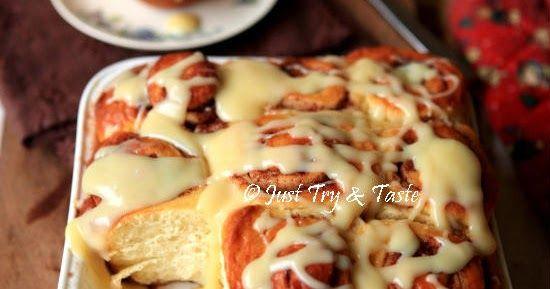 Resep Cinnamon Rolls Dengan Cream Cheese Glaze Happy New Year 2017 Roti Cinnamon Roll Roti Gulung Kue Lezat