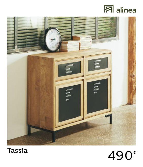 Tassia Etagere 5 Tablettes En Chene Buffet Bas Meuble Deco Mobilier De Salon