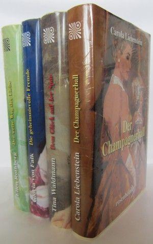 gebrauchtes Buch – Tina Waldmann / Ellen Rothberg / Gloria von Falk / Carola Liebenstein – Dem Glück auf der Spur - Der weite Weg der Liebe - Die geheimnisvolle Fremde - Der Champagnerball