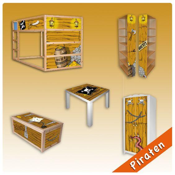 "IKEA Kinderzimmer Aufkleber - Motto ""Piraten Kinderzimmer"""