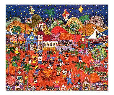 Gravura Festa Junina - 40x30cm
