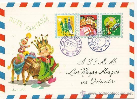 Preciosa Carta diriguida a los Reyes Magos. Editada en el año 1969 - Foto 1: