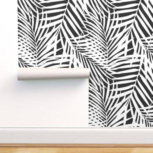 Fronds 7ba1d8 Coastal Wallpaper Removable Wallpaper Stick On Wallpaper