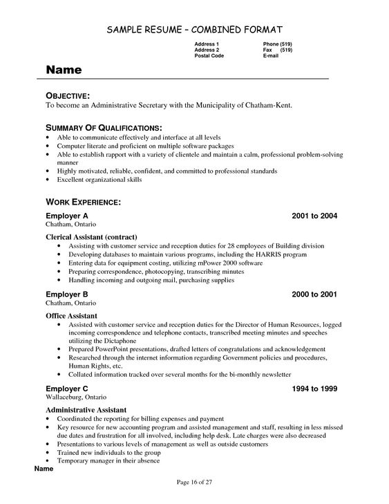 Best Refrence Valid Example Of Cover Letter For Cv For Secretarial Position By Httpwaldwert Job Resume Examples Resume Examples Chronological Resume Template