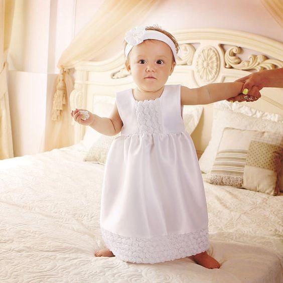 Robe blanche pas cher bebe