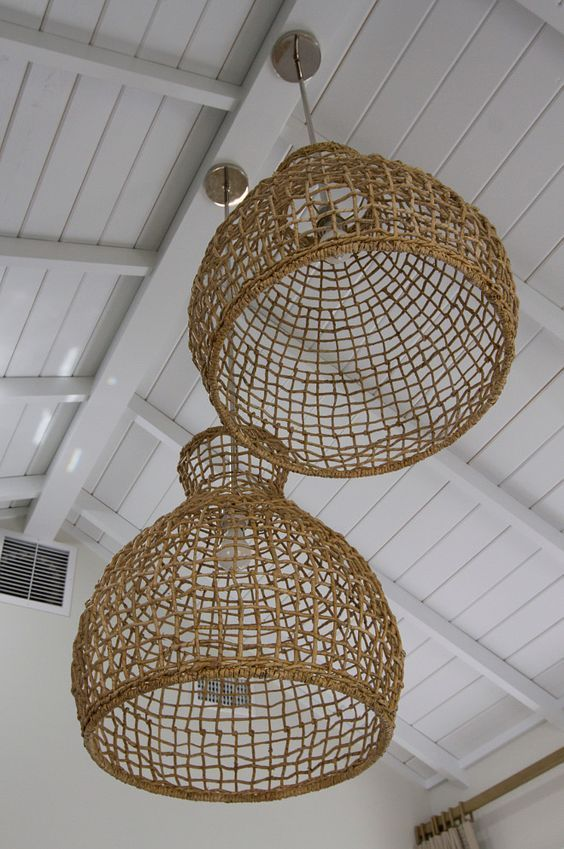 Woven Pendant Lights Natural Home