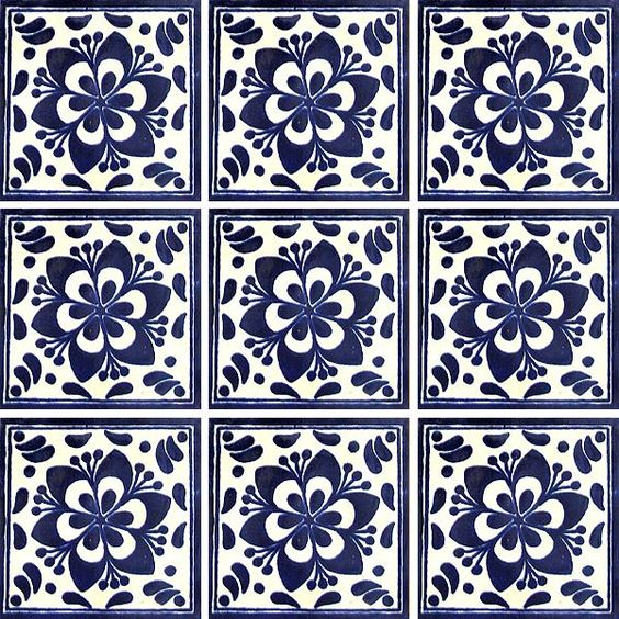 Talavera tile accent for my kitchen floor mi cocina - Azulejos para mosaicos ...