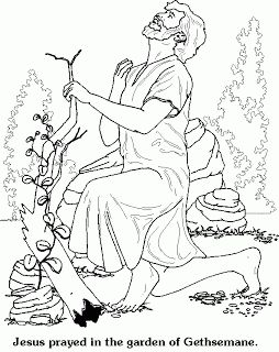Praying Of Jesus Christ Coloring Page Picture In The Gethsemane Garden The Agony In The Garden