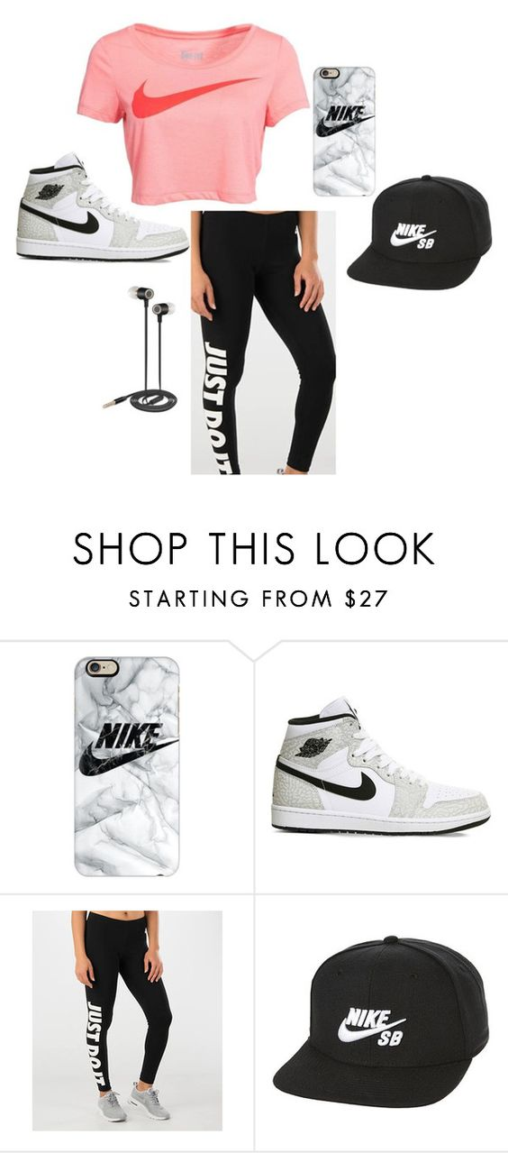 """nike"" by vbutler18 ❤ liked on Polyvore featuring NIKE, Casetify and Nicole Miller"