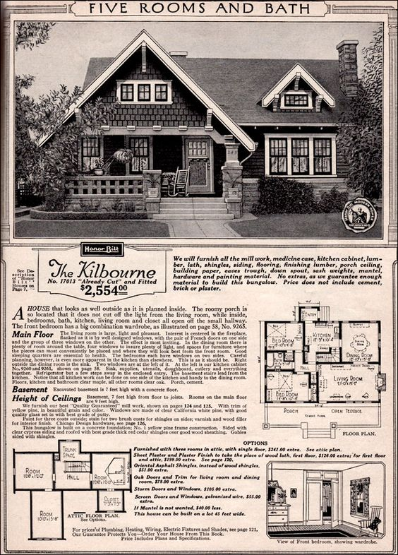 Sears Home The Kilbourne Mail Order Kit Homes