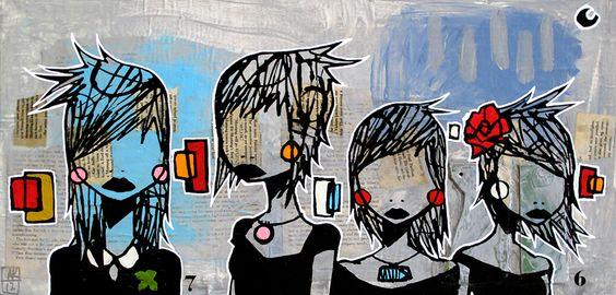 Funeral Party   #art #kraten #Aaron #Funeral #painting #lowbrow #LA