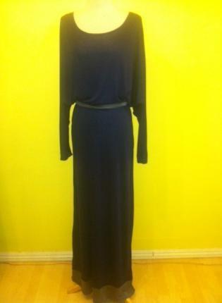 $61 NAVY COLOR BLOCK TRIM BERRY LONG SLOUCHY OFF SHOULDER MAXI D,  Dress, maxi long length jersey dress colorblock, Casual