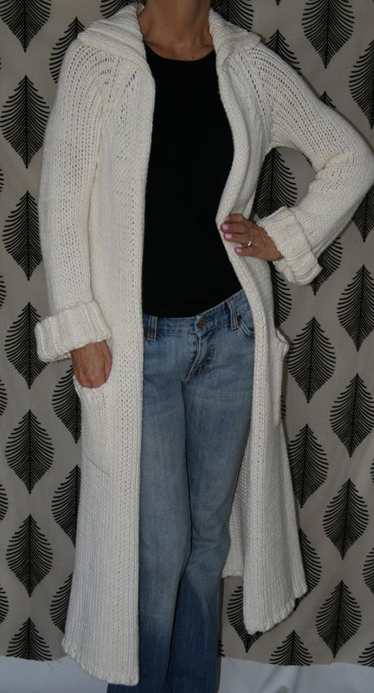 J. Crew NWOT Ivory Colored Open Front Cardigan Sweater Duster PS/Petite Small