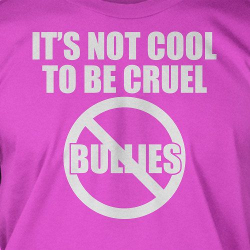 No Bullies It's Not Cool To Be Cruel Tshirt Anti bullying Tshirt ...
