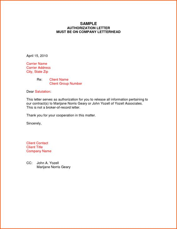 A business appointment letter is written to schedule the - authorization to release information template
