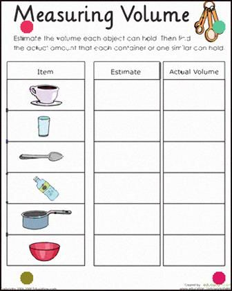 Sc 2 P 8 6 Measure And Compare The Volume Of Liquids Using Containers Of Various Shapes And Sizes Volume Worksheets Capacity Worksheets Measuring Volume Liquid volume worksheets