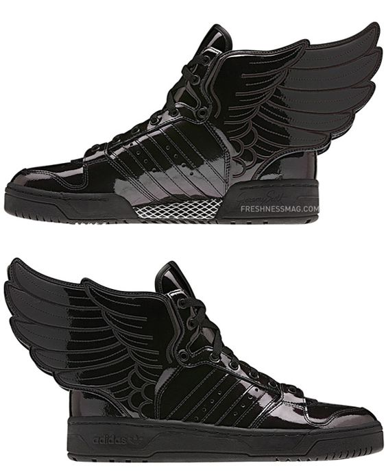 Baskets Jeremy Scott Leather Wings 2.0 High Top Pas Cher