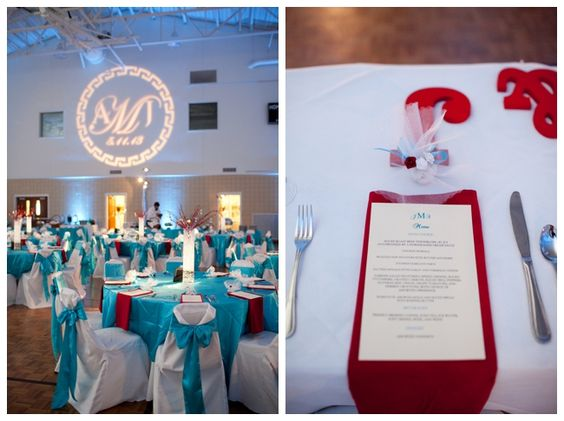 turquoise and red wedding | Red and Aqua Greek Wedding_0031