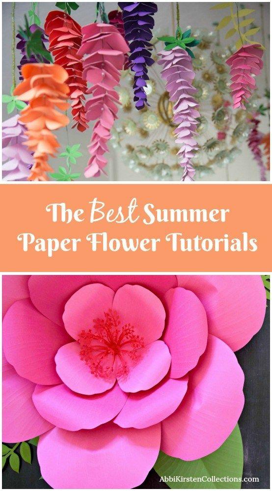 Summertime Paper Flower Roundup The Best Paper Flower Tutorials