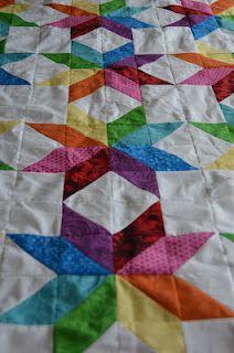 Star Flower Quilt: Rainbow Quilt, Pinwheel Quilt, Quilts Star, Star Quilt Pattern