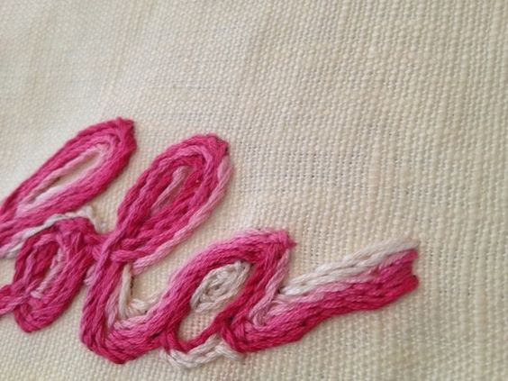 HAND EMBROIDERED NAME