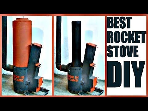 We Poured A Rocket Stove With A Homemade Refractory And Now Have To Burn Out The 1 2 Strand Board Core The Core Wa Rocket Stoves Stove Heater Diy Rocket Stove