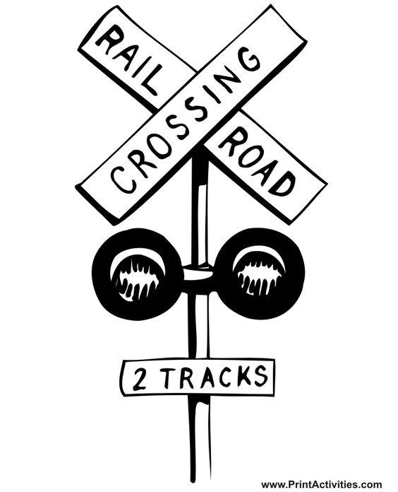 Railroad Coloring Page | Railroad Crossing | Colouring ...