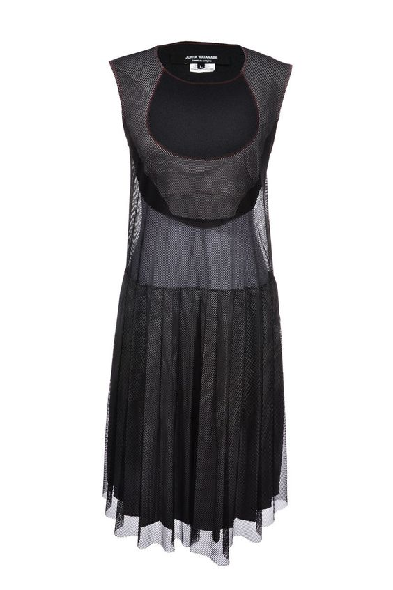 #JunyaWatanabe | Sexy #Kleid mit transparenten #Mesh-Einsätzen, Gr. L | Junya Watanabe Dress | mymint-shop.com | Ihr Online #Shop für #Secondhand / #Vintage #Designerkleidung & #Accessoires bis zu -90% vom Neupreis das ganze Jahr #mymint #dress
