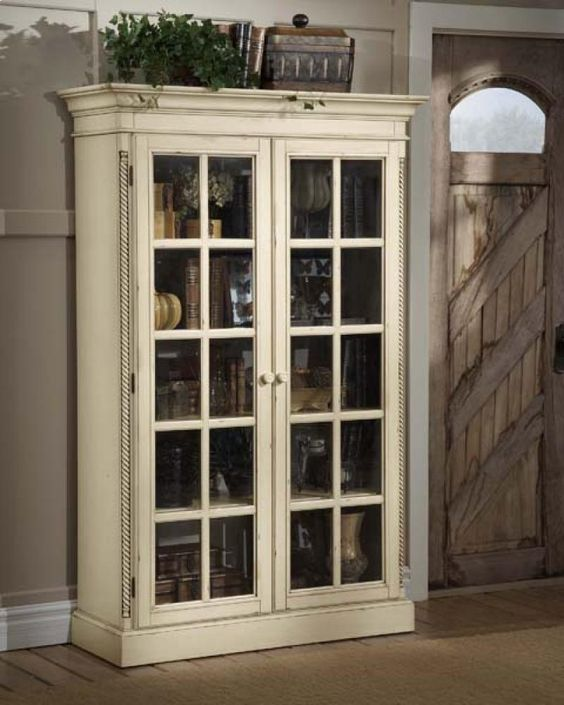 Bookcase By Great Bridge Furniture In Chesapeake, VA   Wilshire Large  Library Cabinet Antique White