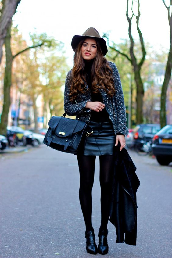 Olive Hat and Cutout Heels | Negin Mirsalehi