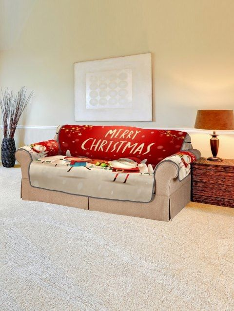 Swell Christmas Santa Claus Scenery Printed Sofa Cover Ideas For Pabps2019 Chair Design Images Pabps2019Com