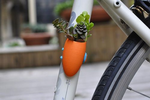 bike planters!