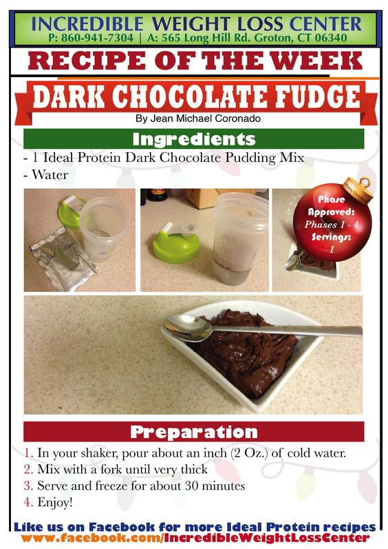 Ideal Protein - Dark Chocolate Fudge An improved old ...