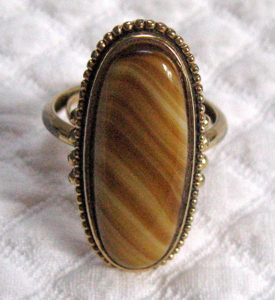 Vintage AGATE RING by Avon 1970s by vintagous on Etsy, $14.00