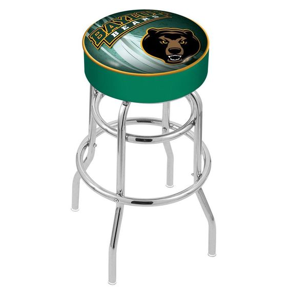 Chrome Baylor Bears Double-Ring Swivel Barstool
