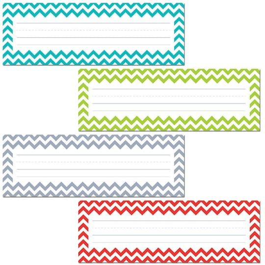 Chevron Solids Name Plates 36 Per Pack 6 Packs In 2021 Chevron Name Plates Word Wall Template Desk Name Tags