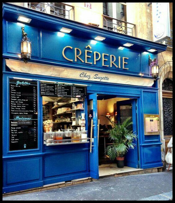 Cute crepe shop, Paris.