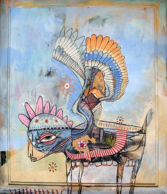 """""""Indian goat deer with Pegasus wings""""   By Jesse Reno and Michael Fields"""
