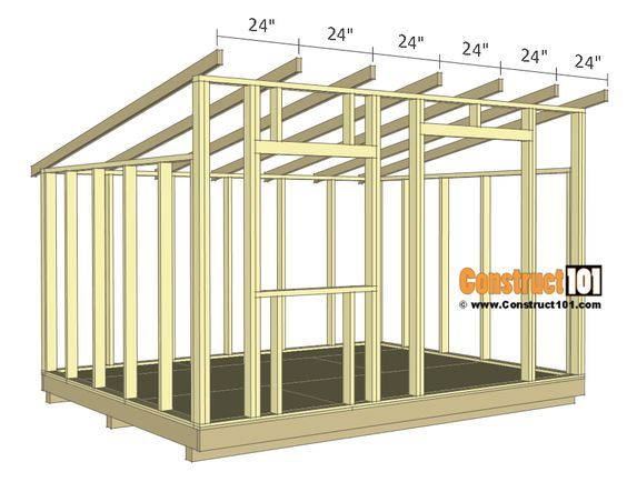 10x12 Lean To Shed Plans Construct101 Wood Shed Plans Lean To Shed Plans Building A Shed