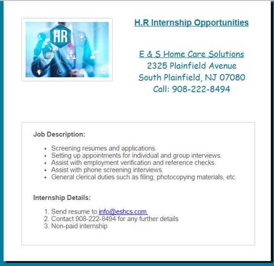 Medical Billing and Coding Classes with Internship E \ S Academy - general intern job description