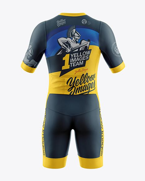 Download Men S Cycling Kit Mockup Back View In Apparel Mockups On Yellow Images Object Mockups In 2021 Clothing Mockup Shirt Mockup Design Mockup Free