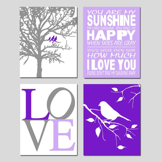 Nursery Art  Set of Four 11x14 Prints  You Are My by Tessyla, $75.00