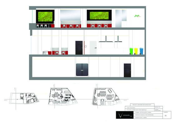 Sección (B) ,restaurante Bint (proyecto clase).