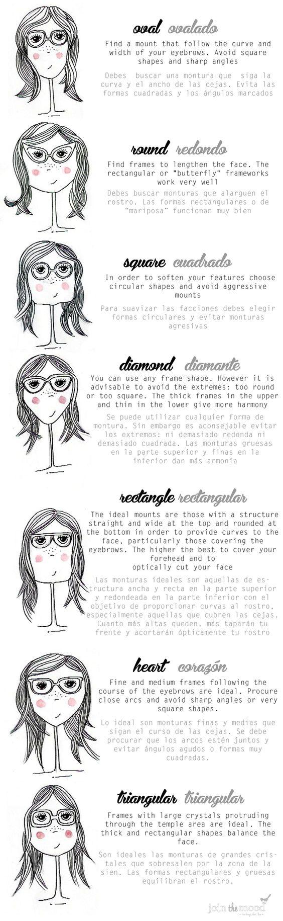 Tipos de rostro: Face Well, Form, Face Shapes, Shape Glasses, Eyeglass Shapes, Gafas Usar, Eyeglass, The Shape, Shapes I Ll