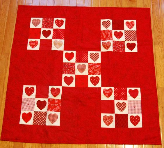 Project Cupid heart quilt