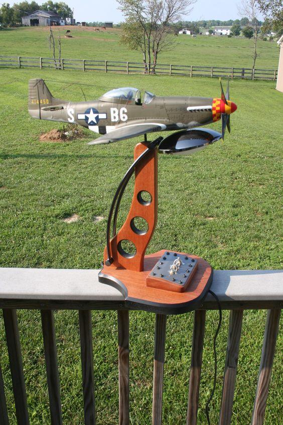 Aviation Inspired desk lamp