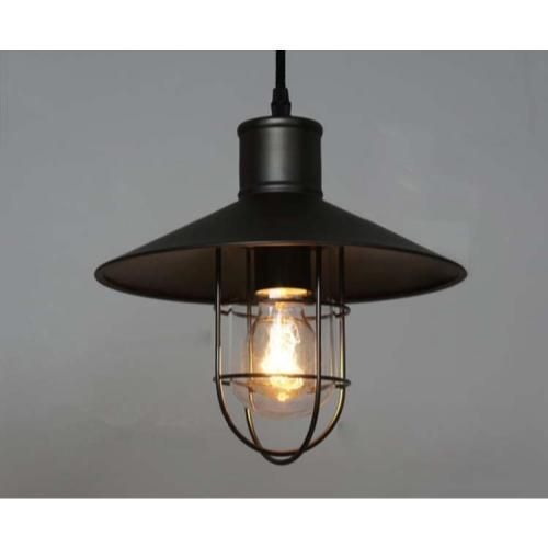 Industrial Caged Pendant Light Bulb Included Cage Pendant